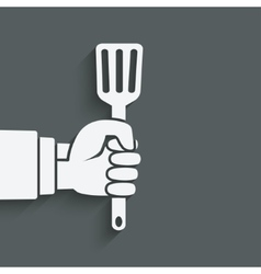 chef hand with turner vector image vector image