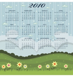 floral calender vector image vector image