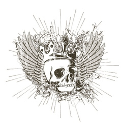t-shirt design with skull vector image vector image