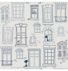 with windows seamless pattern vector image vector image