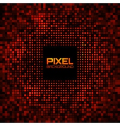 Abstract Pixel Red Bright Glow Background vector image