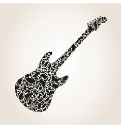 Cat a guitar vector image