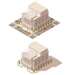 isometric low poly Opera house vector image