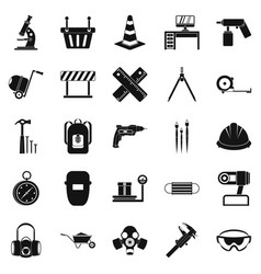 rigging icons set simple style vector image