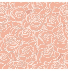 Seamless abstract background with roses pattern vector image