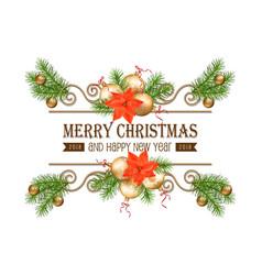 christmas gold border vector image vector image