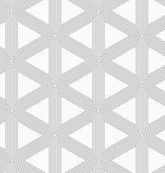 Slim gray triangle grid vector image vector image