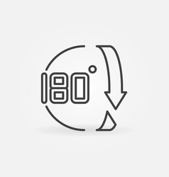 180 degree concept icon in outline style vector