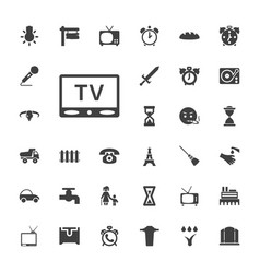 33 old icons vector