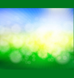 abstract green spring blur background vector image