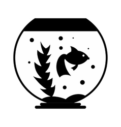 Aquarium simple icon vector image