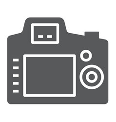 Back camera glyph icon electronic and device vector