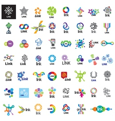 Biggest collection logos link vector
