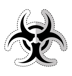 Biohazard sign isolated icon vector