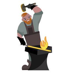 Blacksmith on white background vector