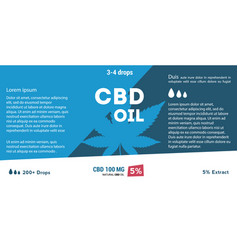 Blue cannabis oil cbd oil marijuana leaf vector