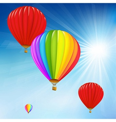 Blue Sky And Air Balloons vector image