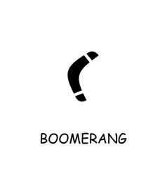 Boomerang flat icon vector