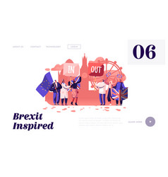 brexit and anti supporters demonstration vector image