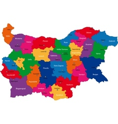 Bulgaria map vector image