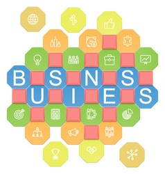 Business Puzzles vector