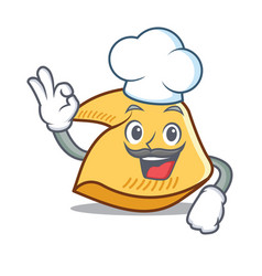 Chef fortune cookie character cartoon vector