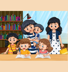 Children learn at home vector