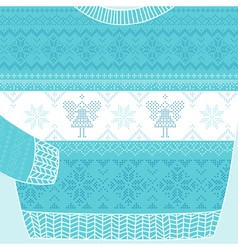 Christmas Ornamental Sweater Card vector