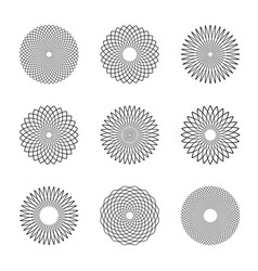 circle design elements vector image