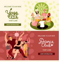 club party banners set vector image