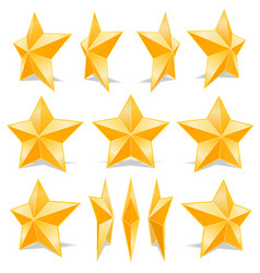 collection stars vector image