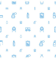 Container icons pattern seamless white background vector