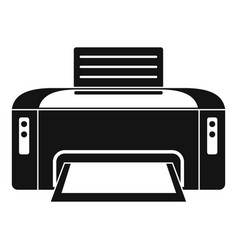 Copier printer icon simple style vector