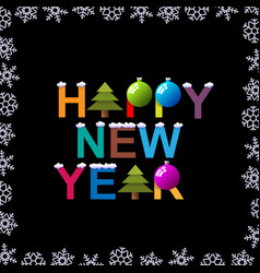 creative funny new year holiday card vector image