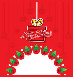 creative merry christmas poster design vector image