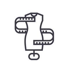 dress sizesizing line icon sign vector image