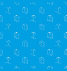 Electrical impulses pattern seamless blue vector