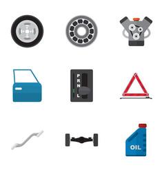 Flat icon workshop set coupler motor vector