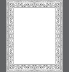 Floral template for frame vector