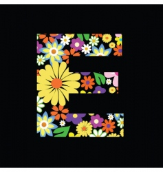 flower e vector image vector image