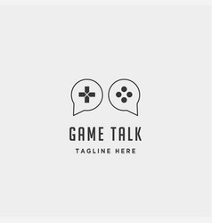 game talk logo design template icon element vector image