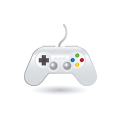 Gamepad over white background vector
