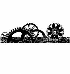 gear box header footer vector image
