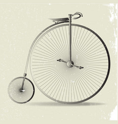 Grunge penny farthing image vector