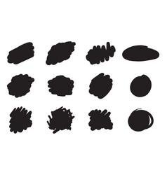 hand drawn brush design elements ink spots black vector image