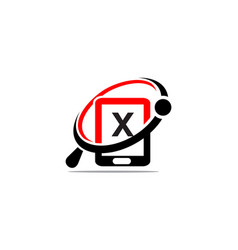 Hand phone search initial x vector