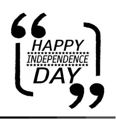 happy independence day design vector image