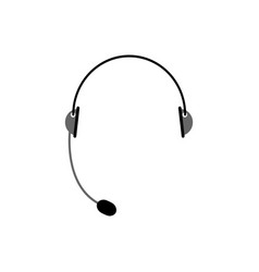 headset isolated microphone and headphones on vector image
