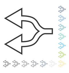Junction arrow left icon vector