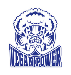 Logo vegan vector